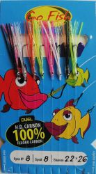 Чепаре Go Fish N:8 Fluoro Carbon +MIX сил.ламе