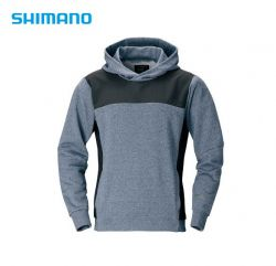 Полар с качулка Shimano PARKA WJ-075S color:Blue/Grey,