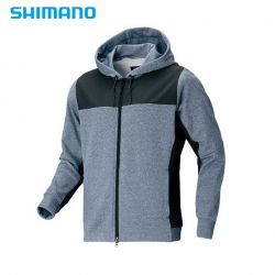 Полар с цип и качулка Shimano PARKA WJ-074S color:Blue/Gray