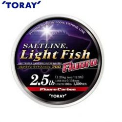 Флуорокарбон TORAY Saltline Light Fish Fluorocarbon -100m.