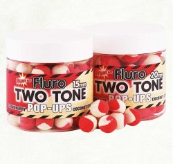 Прот.топчета Dynamite Baits Pop Ups Two Tone Strawberry/Coconut cream