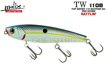 Воблер Molix Top Water 110mm.Baitfish