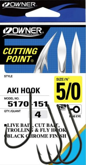 Куки Owner Cutting Point 5170 - Black Hrome